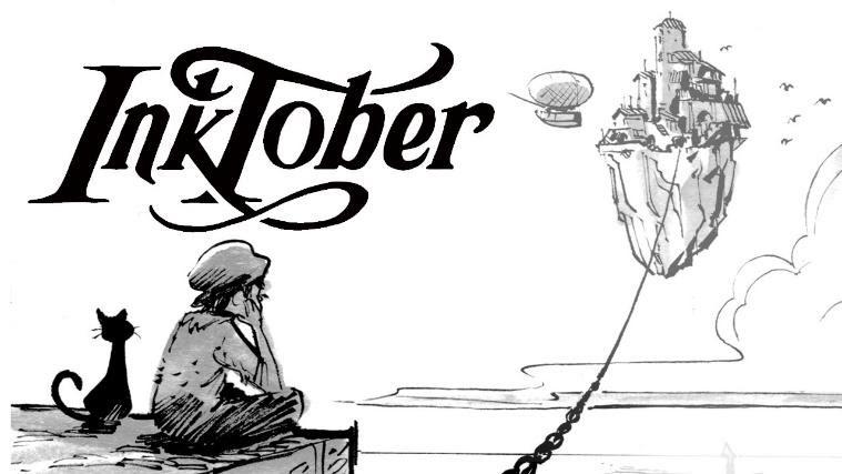 Inktober, ilustración con tinta